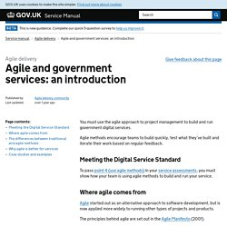 Agile and government services: an introduction - Digital Service Manual