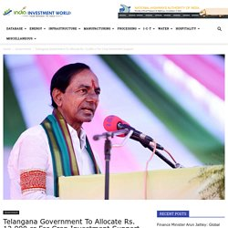 Telangana Government To Allocate Rs. 12,000 cr For Crop Investment Support
