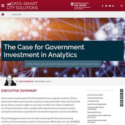 The Case for Government Investment in Analytics