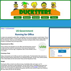 US Government for Kids: Running for Office