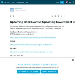 Upcoming Government Jobs: ext_5579950 — LiveJournal
