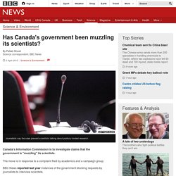 Has Canada's government been muzzling its scientists?