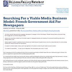 Searching For a Viable Media Business Model: French Government A