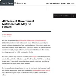 40 Years of Government Nutrition Data May Be Flawed