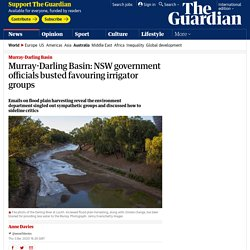 Murray-Darling Basin: NSW government officials busted favouring irrigator groups