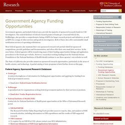 Government Agency Funding Opportunities