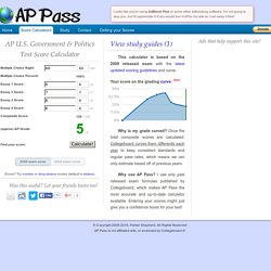 AP U.S. Government & Politics Test Score Calculator - AP Pass