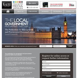 Local Government Procurement Directory