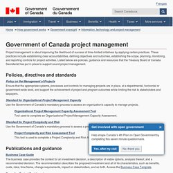 Government of Canada project management