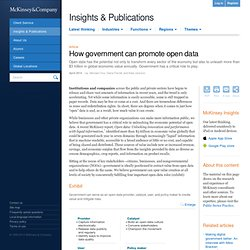 How government can promote open data