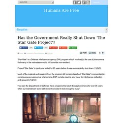 Has the Government Really Shut Down 'The Star Gate Project'?