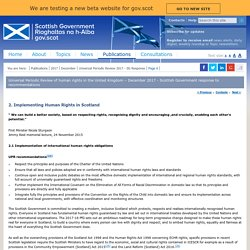Universal Periodic Review of human rights in the United Kingdom – December 2017 - Scottish Government response to recommendations