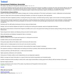 Government Relations Associate - New York, NY - Indeed Mobile