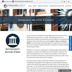 Government Relations Attorneys and Affairs Firms