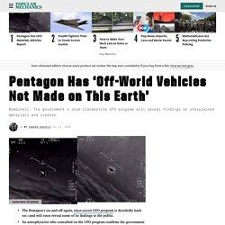 Pentagon Has UFO Vehicles, Materials