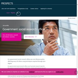 Government social research officer job profile