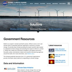 Climate Change: Vital Signs of the Planet: Government Resources