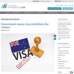 Government eases visa restrictions for visitors