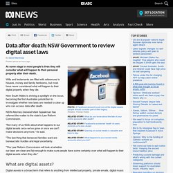 Data after death: NSW Government to review digital asset laws