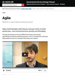 Agile — Government Service Design Manual