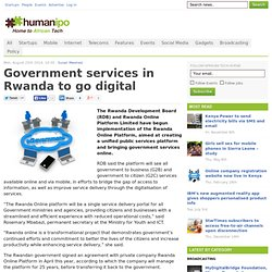 Government services in Rwanda to go digital
