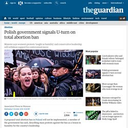 Polish government signals U-turn on total abortion ban