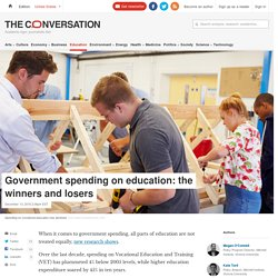 Government spending on education: the winners and losers