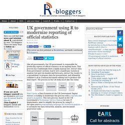UK government using R to modernize reporting of official statistics