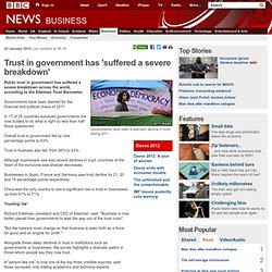 Trust in government has 'suffered a severe breakdown'