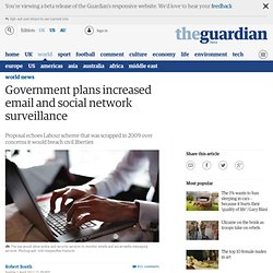 Government plans increased email and social network surveillance