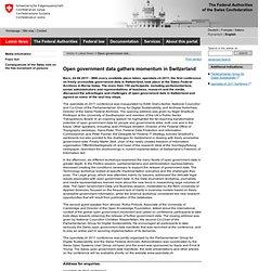 Open government data gathers momentum in Switzerland