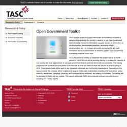 Open Government Toolkit » Research & Policy Project Listing » Research & Policy » TASC - Think-tank for Action on Social Change