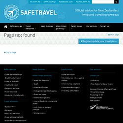 NZ government travel advisory - Viet Nam