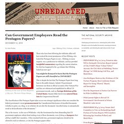 Can Government Employees Read the Pentagon Papers?