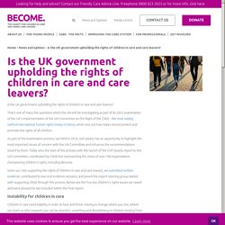 Is the UK government upholding the rights of children in care and care leavers?