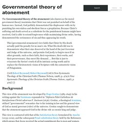 Governmental theory of atonement