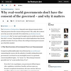 Why real-world governments don't have the consent of the governed – and why it matters