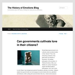 Can governments cultivate love in their citizens?