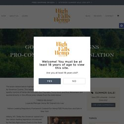 Governor Cuomo Signs Pro-Consumer Hemp Legislation - High Falls Hemp