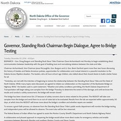 Governor, Standing Rock Chairman Begin Dialogue, Agree to Bridge Testing