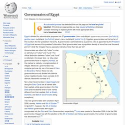 Governorates of Egypt