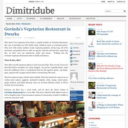 Govinda's Vegetarian Restaurant in Dwarka