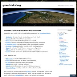 goworldwind.org | All World Wind resources in one place