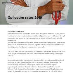 Gp locum rates 2019