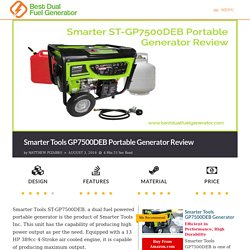 Smarter Tools GP7500DEB Portable Generator Review