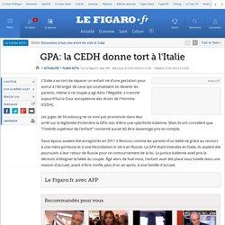 GPA: la CEDH donne tort à l'Italie