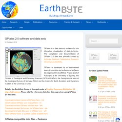 GPlates 2.0 software and data sets – EarthByte