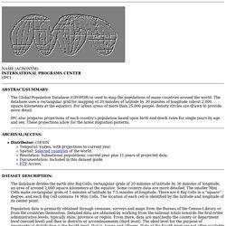 GPOPDB Home Page
