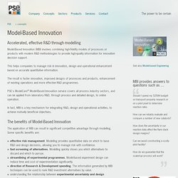 PSE: gPROMS Model-Based Innovation overview