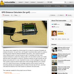 GPS Distance Calculator (for golf)